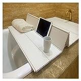 ZHANWEI-Vassoi Vasca da Bagno Copertura Vasca Anti-Polvere Lettura Porta Tablet Pieghevole Pannello Isolante Termico, 1,2 Cm di Spessore, Taglie Multiple (Color : White, Size : 80x180x1.2cm)