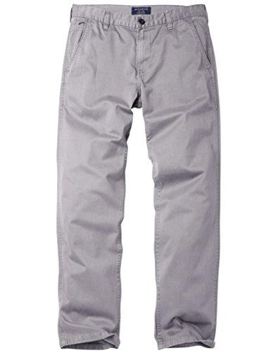 Match Herren Slim Straight Casual Hose #8036 8089 Silber grau