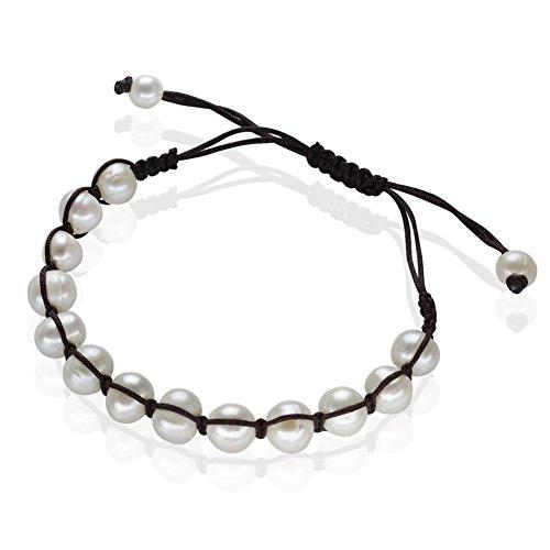 """Da donna 7.48""""pomodoro forma braccialetti handmade allungata a catena perla d"""