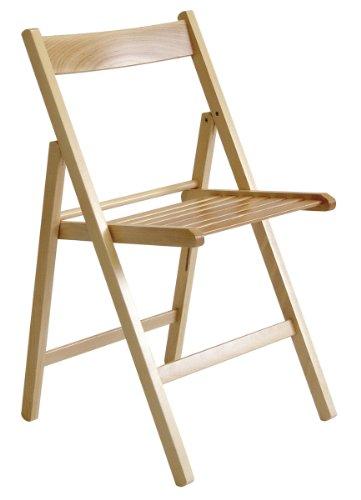 Valdomo milleusi sedia pieghevole, legno, naturale, 43x6.5x87 cm