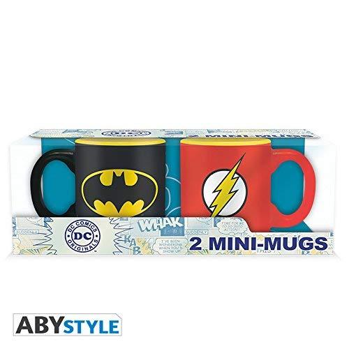 ABYstyle - DC COMICS - Set 2 mini-Tazas - 110 ml - Batman y Flash