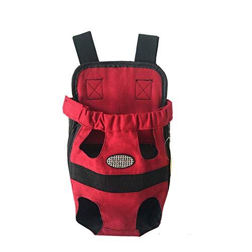 GUOCU Pet Hunde Rucksack Carrier vorne Pack verstellbar Katze Outdoor Travel Bag Rot L