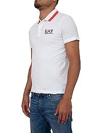 Polo EA7 Emporio Armani 3YPF87 PJ03Z 1100 White bef074791a564