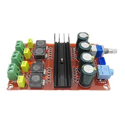 24v Verstärker (Demarkt TPA3116D2 2 x 100W Digital-Verstärkerplatine 12V-24V breite Spannungs binaural Verstärkerplatine Leistungsverstärkermodul)