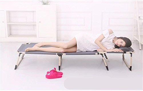 Single Folding Bed Folding Chair Recliner Office Lunch Break Easy Camp Bed , Dark Gray