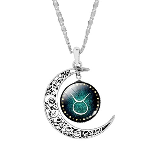 popular-taurus-moon-star-pendant-alloy-chain-necklace-for-women-girls-choker
