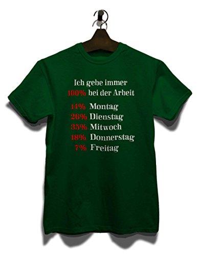 Ich Gebe Immer 100 Prozent Bei Der Arbeit T-Shirt Dunkel Grün