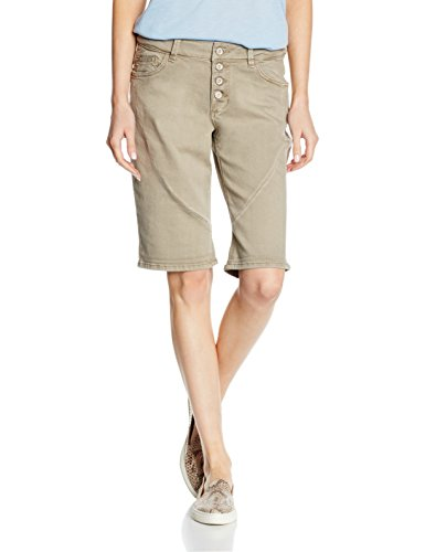 s.Oliver Mit Wascheffekten, Short Femme Marron - Braun (brown denim stretch 85Z8)