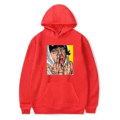 Mchooded Klassische Unisex Hoodies Lil Xan Xanarchy Sweatshirt Musik Rap Mantel Chic Trainingsanzug Für Herren Und Jungen T-Shirt Druck Musik Sweatshirt