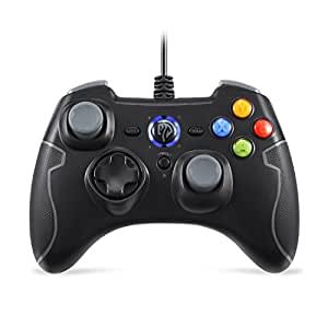 [Manette PC PS3 Filaire] EasySMX Manette du Jeu Filaire Joypad Contrôleur PS3 avec Double Vibration Game Contrôleur Pour PC / Android / PS3 / TV Box (Gris)