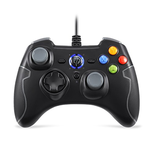 EasySMX verdrahtet Game Controller Gamepad Joystick mit Dual-Vibration TURBO und TRIGGER Tasten für Windows / Android / PS3 / TV Box (Grau)