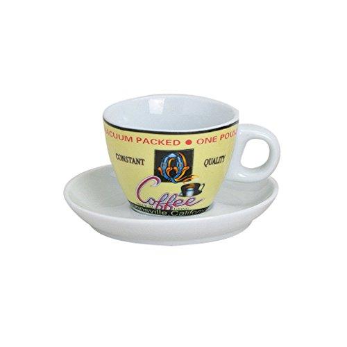 Tassen Design espressotassen set bunt aus porzellan 4 tassen inkl unterteller in