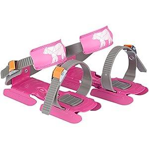 Nijdam® Junior Kinderschlitschuhe verstellbare Gleitschuhe Größe 24 – 35 Blau oder Rosa