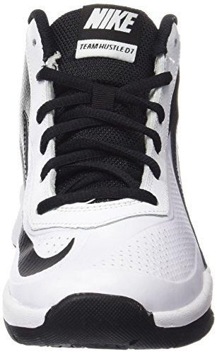 Nike  Team Hustle D 7 (GS),  Jungen Basketball Turnschuhe Schwarz-Weiß