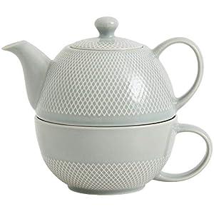 Nordal Tea for One Set, Teekanne und Tasse, 450 ml (Hellgrau)