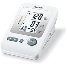 Beurer BM 26 - Tensiómetro de brazo, indicador OMS, memoria 4 x 30 mediciones