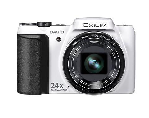 Casio Exilim EX-H50 Digitalkamera (16,1 Megapixel, 24-fach opt. Zoom, 7,6 cm (3 Zoll) Display, bildstabilisiert) weiß