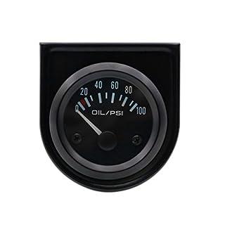 Minzhi 52mm 12V Auto Electric Öldruckmanometer Meter Öldruckmesser Tester Meter Elektrische Motorcycly Eichmaße