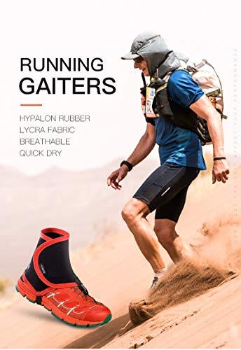 Nowear Männer Frauen Laufen Schutzschuh Gaiters verhindern, DASS Sand Schuhe Verpackungs-Jogging Wandern Radfahren Außenabdeckungen