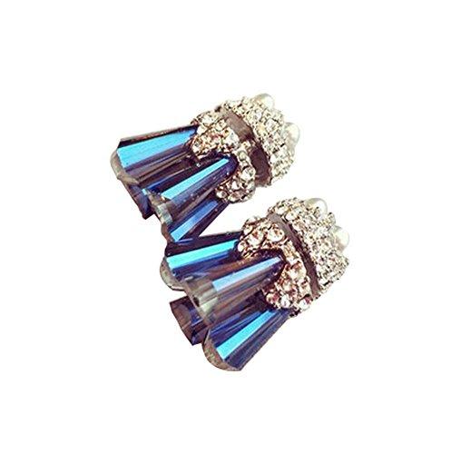 rt-Ohrringe für Mädchen (Western Perlenketten)