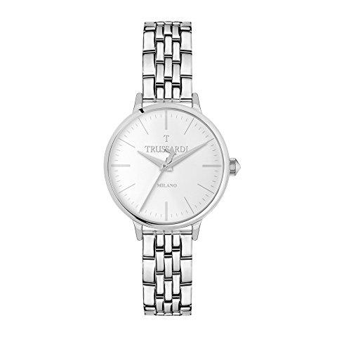 TRUSSARDI Reloj Analógico para Mujer de Cuarzo con Correa en Acero Inoxidable R2453126504