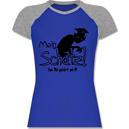 Abi & Abschluss - Abi 2017 Mein Schatz - zweifarbiges Baseballshirt / Raglan  T-Shirt