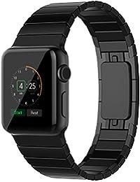 Sanday Apple Watch Correa, para Series 3/2/1 Correa Reemplazo para Apple Watch 42mm Correa de Acero Inoxidable Reemplazo de Banda de la MuñecaT con Metal Corchete para Apple Watch 42mm Negro