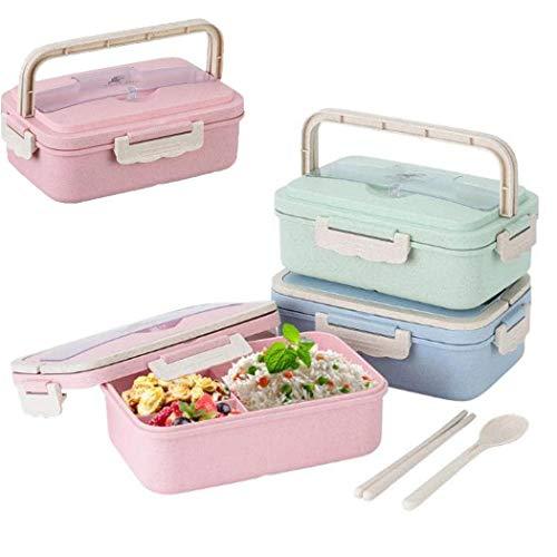 Lunch Box Portatile con posate Contenitore per Alimenti