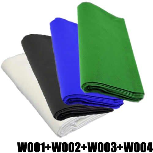 4x-fotostudio-stoff-hintergrund-dynasun-28x40-weiss-schwarz-blau-und-grun-dicke-baumwolle-140g-sqm