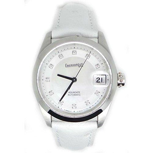 Clock Eberhard Women 41127.LCP Breaker quandrante White Strap Stainless Steel