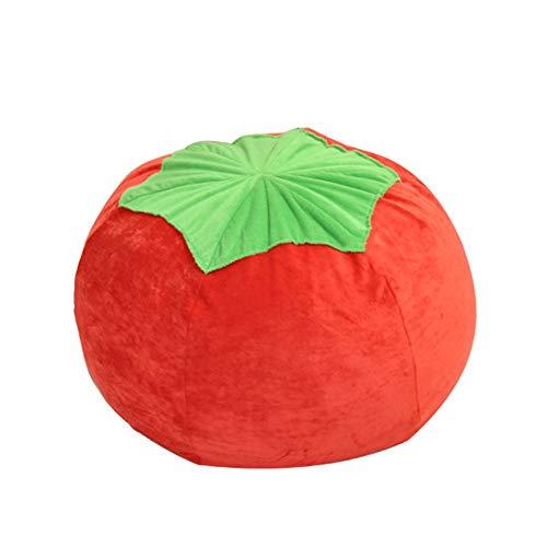 Lazy Sofa Lazy Couch Tomato Tatami Sitzsack Kindersofa - Freizeitmöbel Sofa (Farbe : Rot, Größe : 66 * 66 * 42cm)