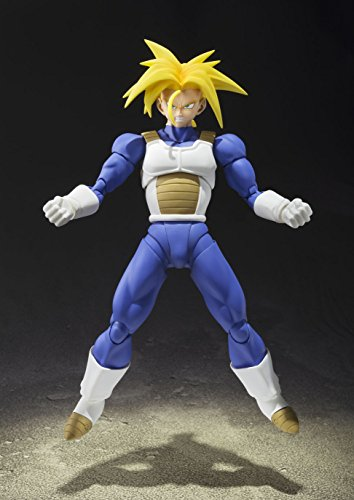 TAMASHII NATIONS Bandai Super Saiyan Trunks (Cell Saga Version) Dragon Ball Z Action Figure 6