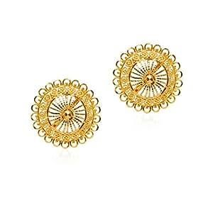 Senco Gold 22k (916) Yellow Gold Pasha Stud Earrings