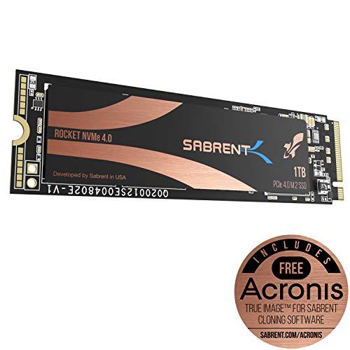 Sabrent SSD interne M.2 2280 Rocket Nvme PCIe 4.0 de 1 TB. Solid State Drive haute performance. (SB-ROCKET-NVMe4-1TB)
