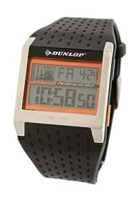 Dunlop - DUN-113-G08 - Montre Homme - Quartz - Digital - Alarme - Rétro éclairage - Chronographe - Bracelet Caoutchouc Noir