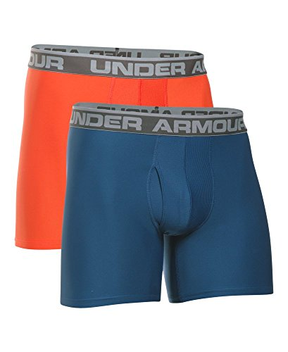 Under Armour Herren O Series 6 zoll BoxerJock 2 PK Heron/ Dark Orange