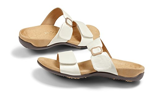 Vionic Womens Rest Camila White Synthetic Sandals 40 EU (Womens Orthaheel Schuhe)