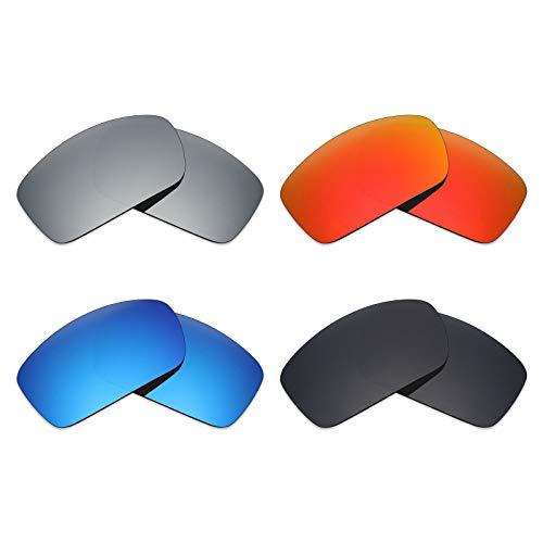 MRY 4Paar Polarisierte Ersatz-Objektive für Costa del Mar graufächerschwanz sunglasses-stealth schwarz/fire rot/ice blau/Smaragd Grün