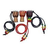 Wenwenzui-DE Ethnische afrikanische Trommel Anhänger Classic Mini Tamburin Kinder Halskette Mode