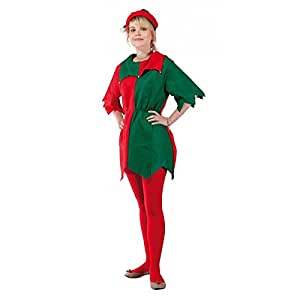 P'TIT CLOWN - 12342 - Costume Adulte Lutin Femme - Feutrine - Taille Unique