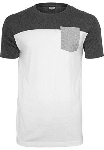 Preisvergleich Produktbild Urban Classics 3-Tone Pocket Tee T-Shirt Shirt,  Farbe:wht / cha / gry;Größen:L