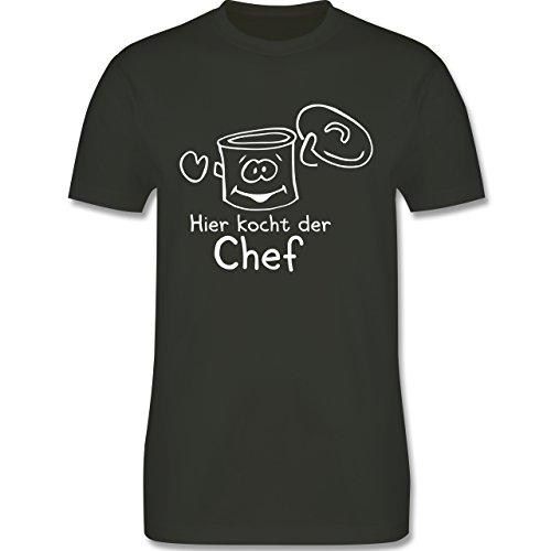 Küche - Hier kocht der Chef - Herren Premium T-Shirt Army Grün
