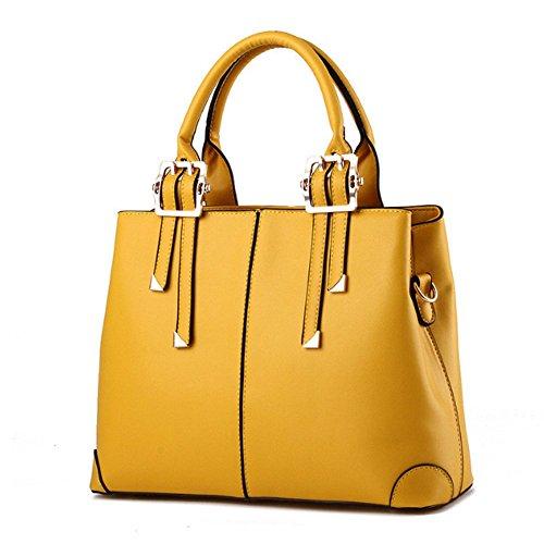 Eysee, Borsa a spalla donna Nero Pink 32cm*25cm*12.5cm Yellow