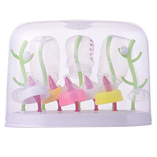 FASTAR MultiDry Trockenständer Unterstützung oder Abtropffläche mit einem Staubschutz für die trockene Flaschen und Zubehör Baby BPA-frei