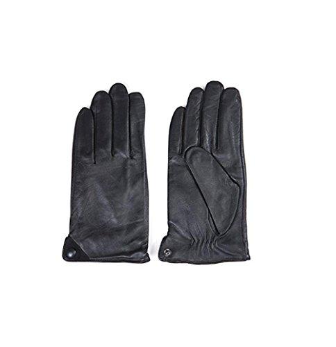 GQQgloves Mode chaud Locomotive hommes conduite en peau de mouton cuir gants noir brun Black