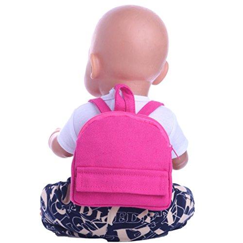 American Girl Puppen Rucksack Schultasche 45,7cm, American Girl Puppen Zubehör Billig Staubbeutel vneirw, hot pink (American Doll Gymnastik-outfit)