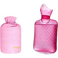 750ML Klassisch PVC Kalt oder Heiße Wasserflasche mit weichem Plüschbezug, 02 preisvergleich bei billige-tabletten.eu