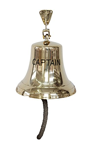 Antike Schiff Glocke (Glocke Schiffsglocke 24cm Captain Schiff Maritim Nautik Antik-Stil Kapitän)