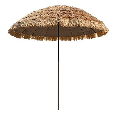 Ombrello da esterno in paglia artificiale, ombrellone da esterno da 250 cm ombrellone da tavolo ombrellone ombrellone pulsante ombrellone ombrellone ombrellone da giardino ldfz