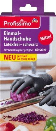 Profissimo Einmal-Handschuhe latexfrei schwarz, 60 St
